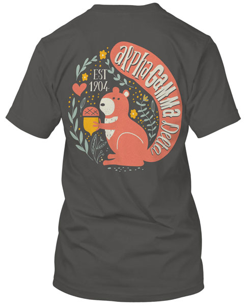 1085 alpha gamma delta squirrel t shirt greekshirts for Sorority t shirts designs