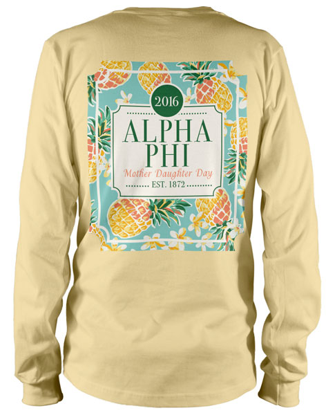 1093 alpha phi mother daughter day t shirt greek shirts for Sorority t shirt design