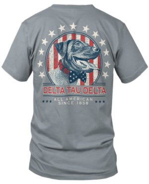 Delta Tau Delta Patriotic Dog T-shirt