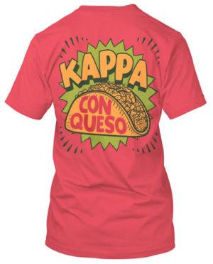 Kappa Kappa Gamma Kappa Con Queso T-shirt