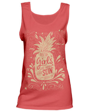 Kappa Delta Pineapple Tank Top