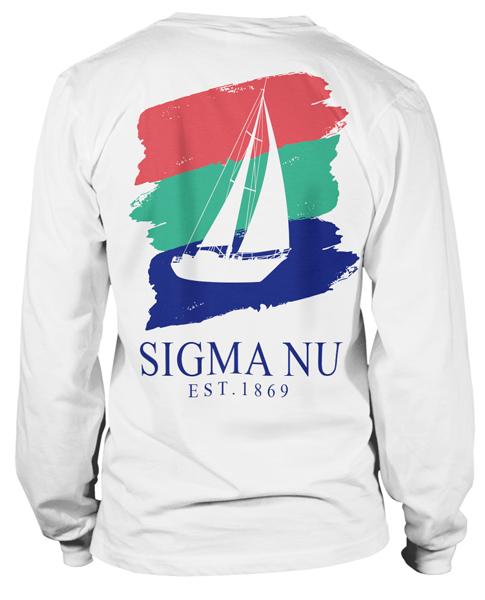 2121 sigma nu nautical t shirt greekshirts for Fraternity rush shirt ideas