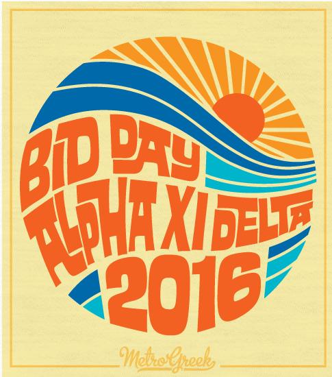 Alpha Xi Delta Bid Day Surf Shirt