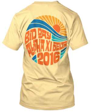 Alpha Xi Delta Bid Day Surf T-shirt