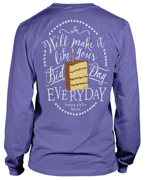 Kappa Alpha Theta Bid Day Cake T-shirt