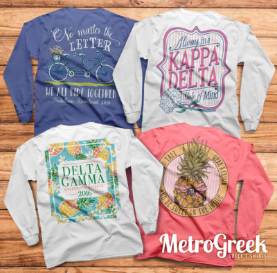 Sorority Recruitment and Bid Day T-shirts