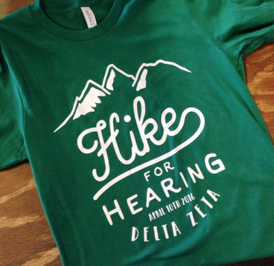 Delta Zeta Hike for Hearing T-shirts