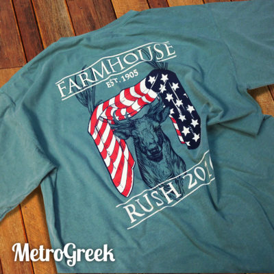 Farmhouse Deer Rush Tshirt