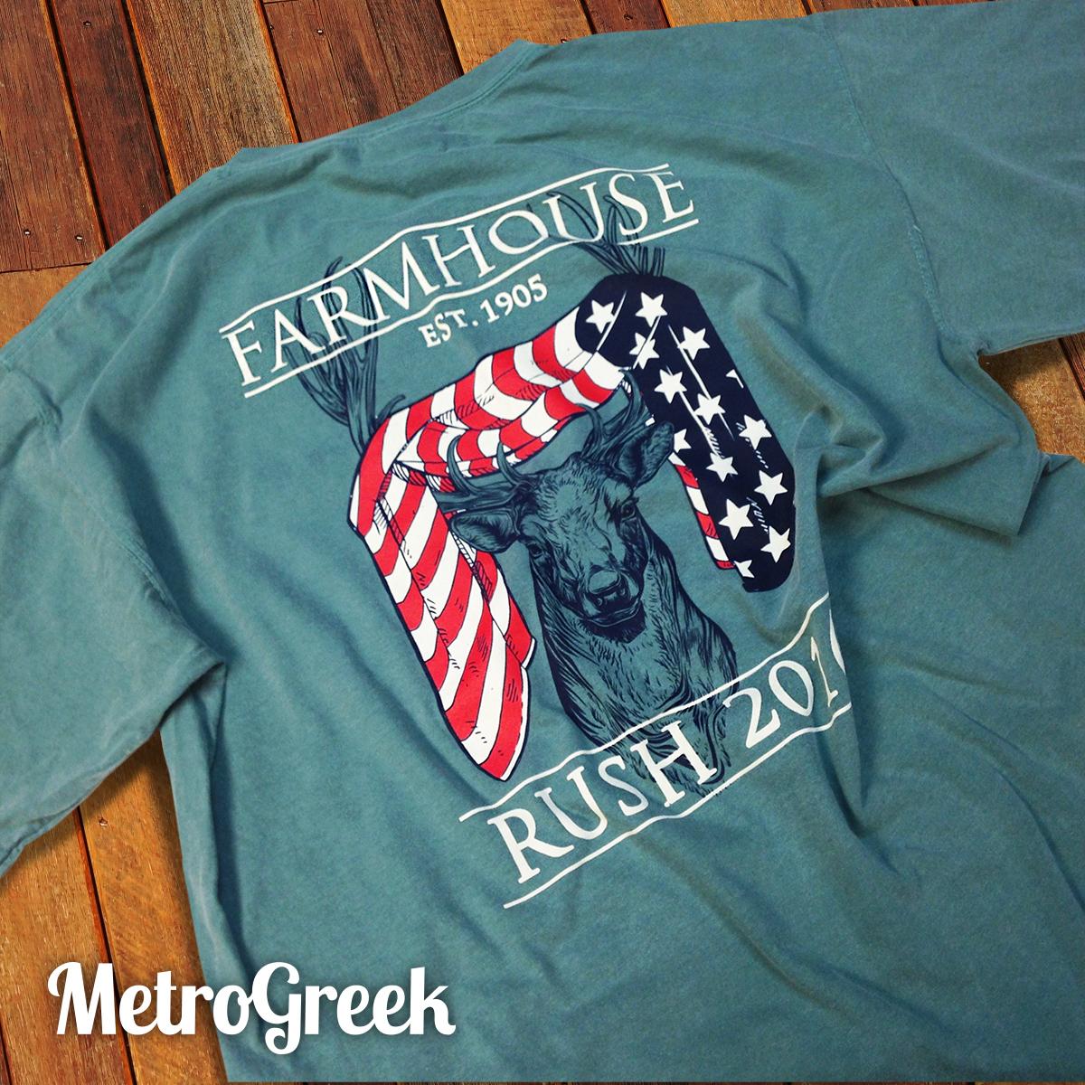 Farmhouse Deer Rush Tshirt