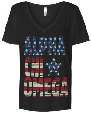 Alpha Chi Omega Flag T-shirt