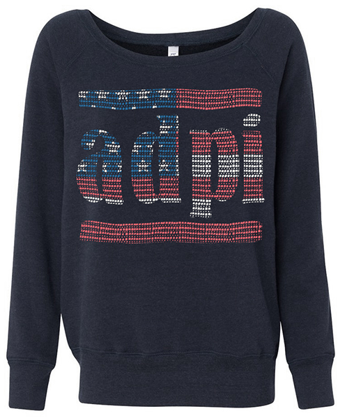 Alpha Delta Pi Sweatshirt Americana
