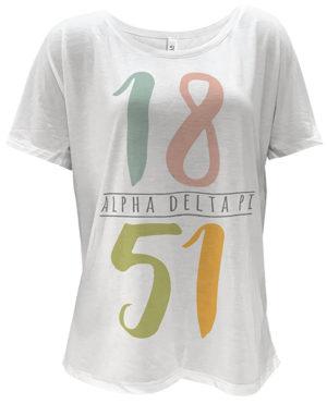 Alpha Delta Pi Founding Date T-shirt