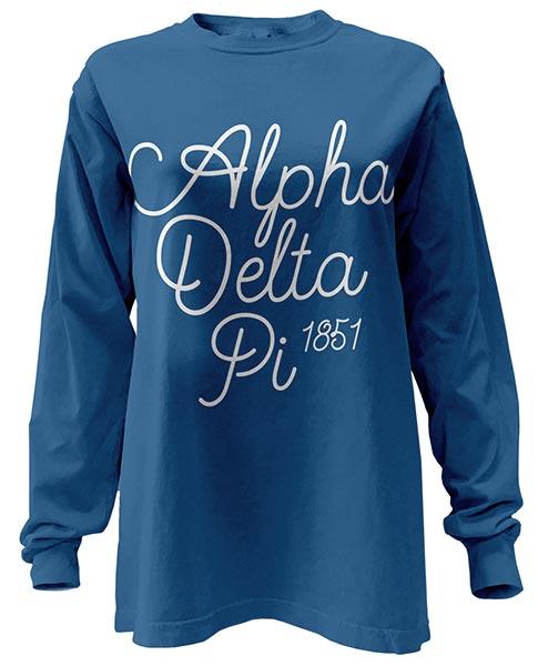 Alpha Delta Pi Script T-shirts