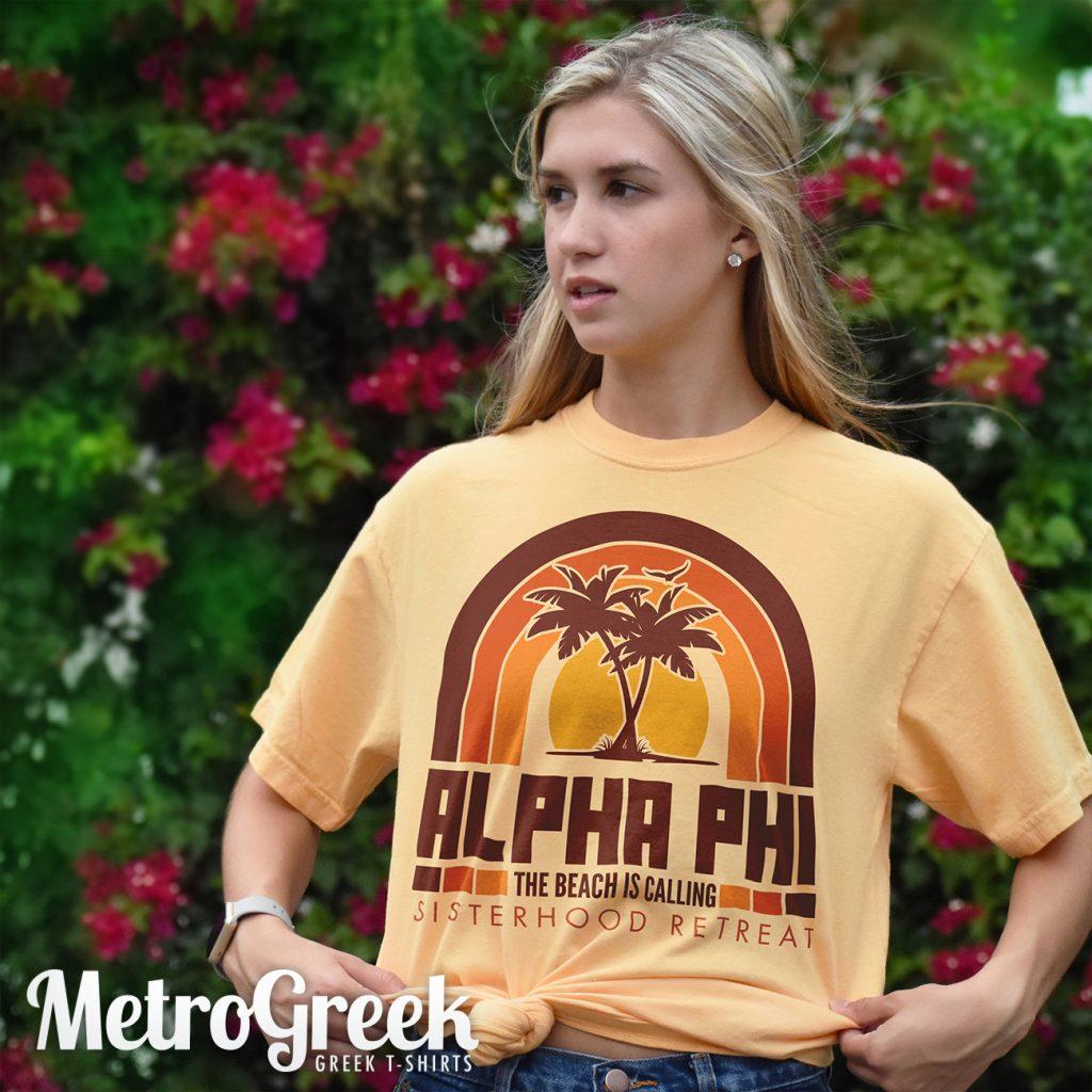 Alpha Phi Retro Seventies T-shirt