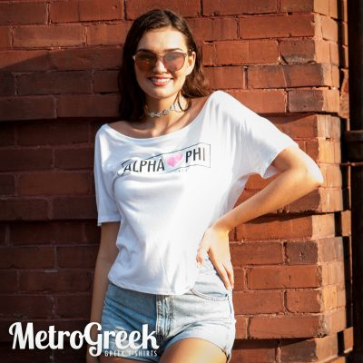 Alpha Phi Slouchy T-shirt