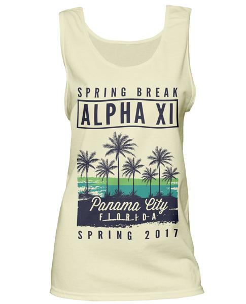 Alpha Xi Delta Spring Break Tank