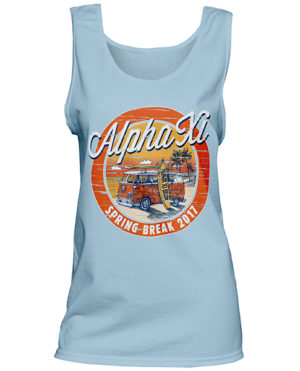 1340 Alpha Xi Delta Spring Break T-shirt