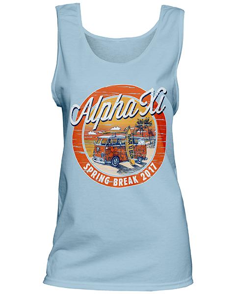 1340 Alpha Xi Delta Spring Break T-shirt