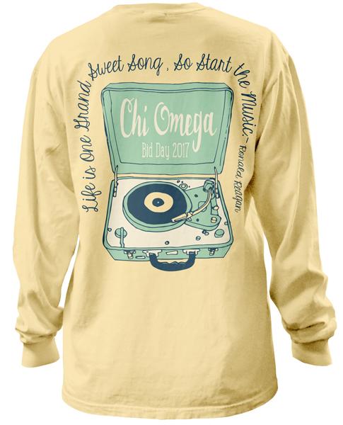 Chi Omega Bid Day T-shirt