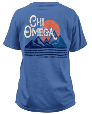 Chi Omega Mountain T-shirts