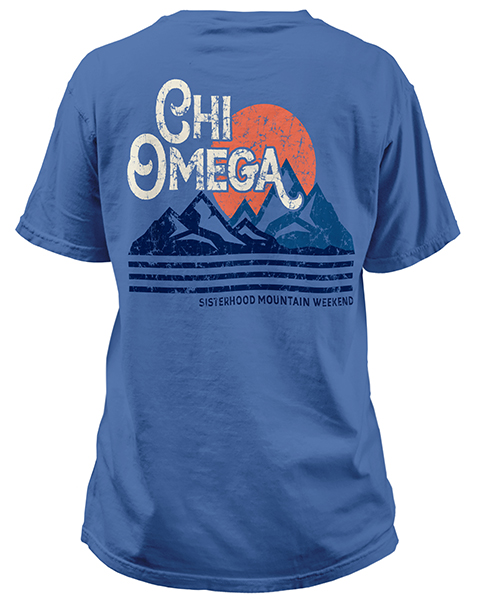 1932 chi omega mountain t shirts greekshirts for Sorority t shirt design