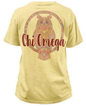 Chi Omega Owl Mandala T-shirt