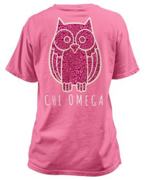 Chi Omega Paisley Owl T-shirt