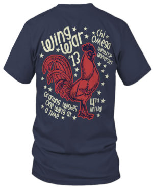 Chi Omega Wing War T-shirt