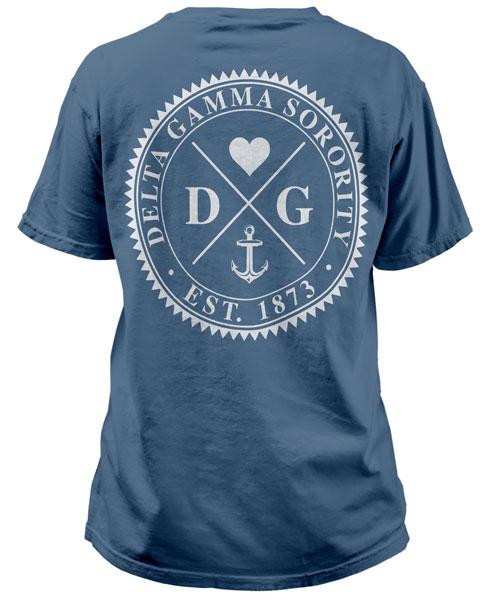 Delta Gamma Anchor Circle T-shirt