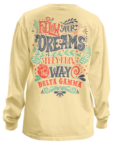 Delta Gamma Dreams Bid Day T-shirt