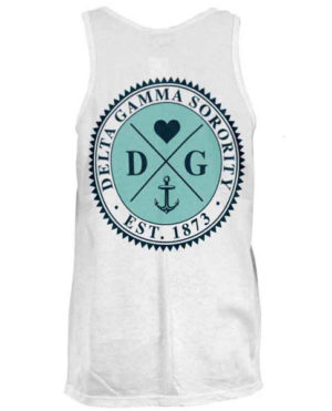 Delta Gamma Anchor Circle Tank Top