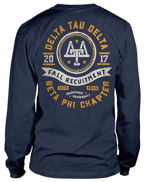 2362 Delta Tau Delta Rush T-shirt | Greek Shirts