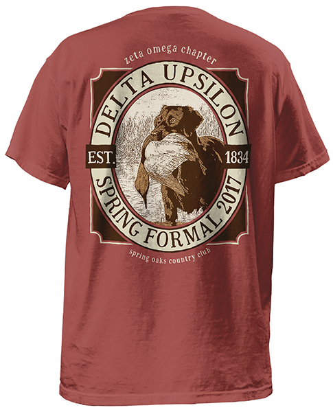 Delta Upsilon Formal T-shirt