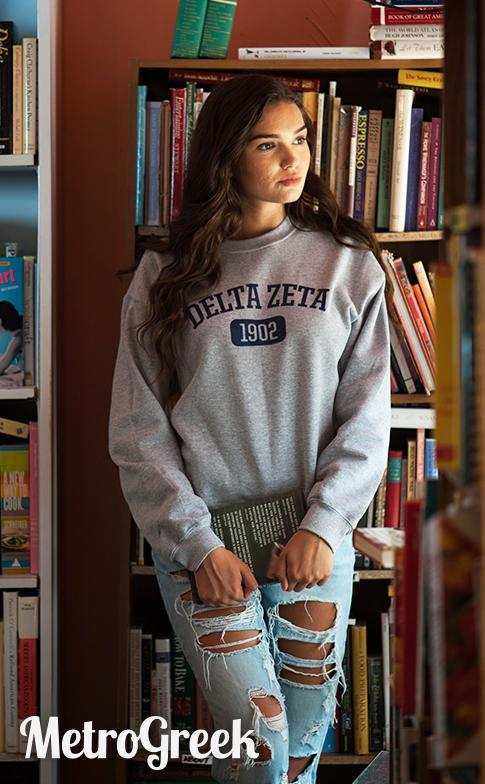 Collegiate Delta Zeta Sweatshirt