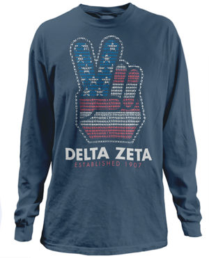 Delta Zeta Peace T-shirt