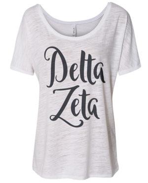 Delta Zeta Slouchy Script T-shirt