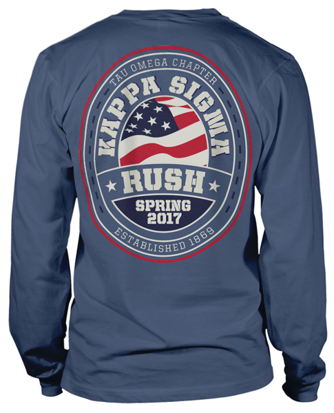 Kappa Sigma Patriotic Long Sleeve Rush T-shirt