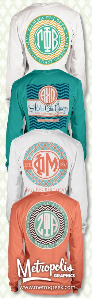 Monogrammed Sorority T-shirts