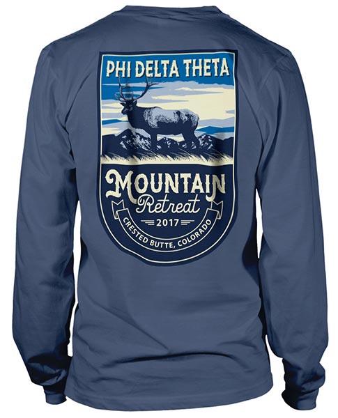 Phi Delta Mountain Retreat t-shirt