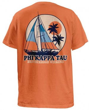2251 Phi Kappa Tau Retro Sail T-shirts