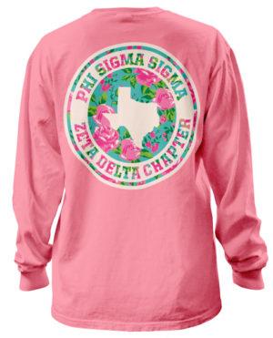 Phi Sigma Sigma Rose T-shirt