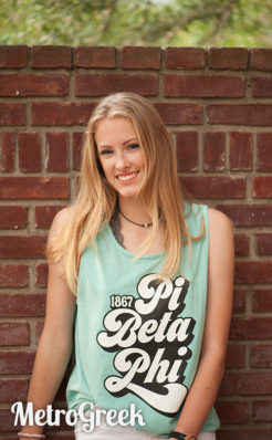 Pi Beta Phi Retro Type Tank Top