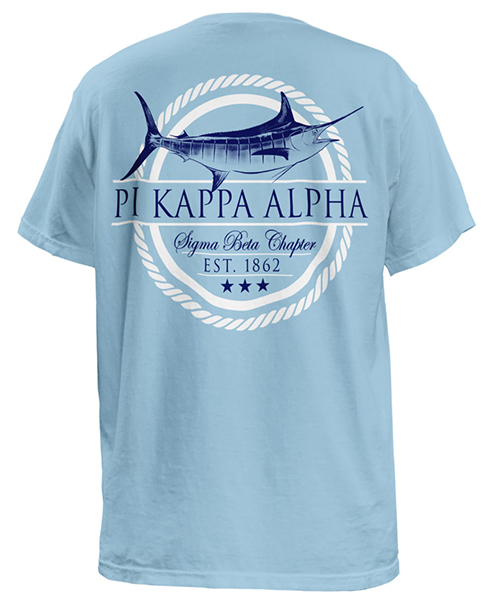 2682 pike marlin fraternity rush t shirt greekshirts for Sorority t shirt design