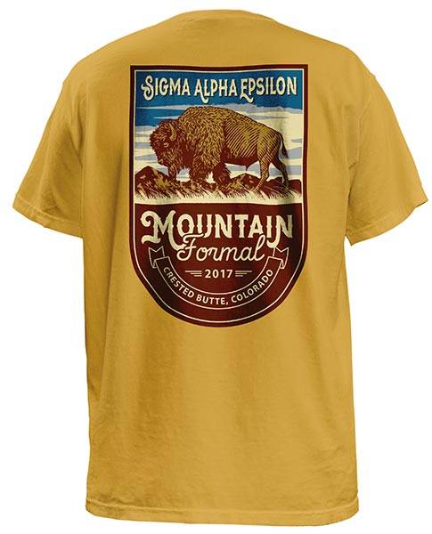 Sigma Alpha Epsilon Mountain T-shirt