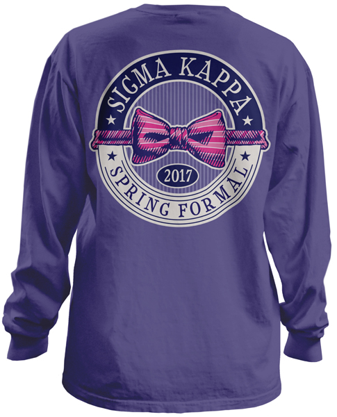 6040 sigma kappa formal t shirt greekshirts for Sorority t shirt design