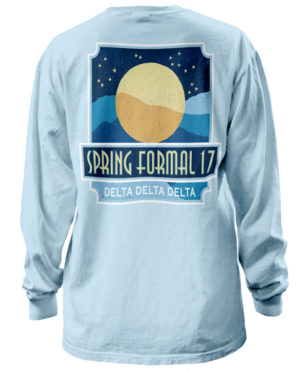 Tri Delta Formal Moon T-shirt