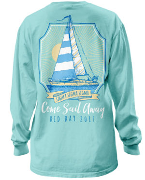 Tri Sigma Sailboat T-shirt