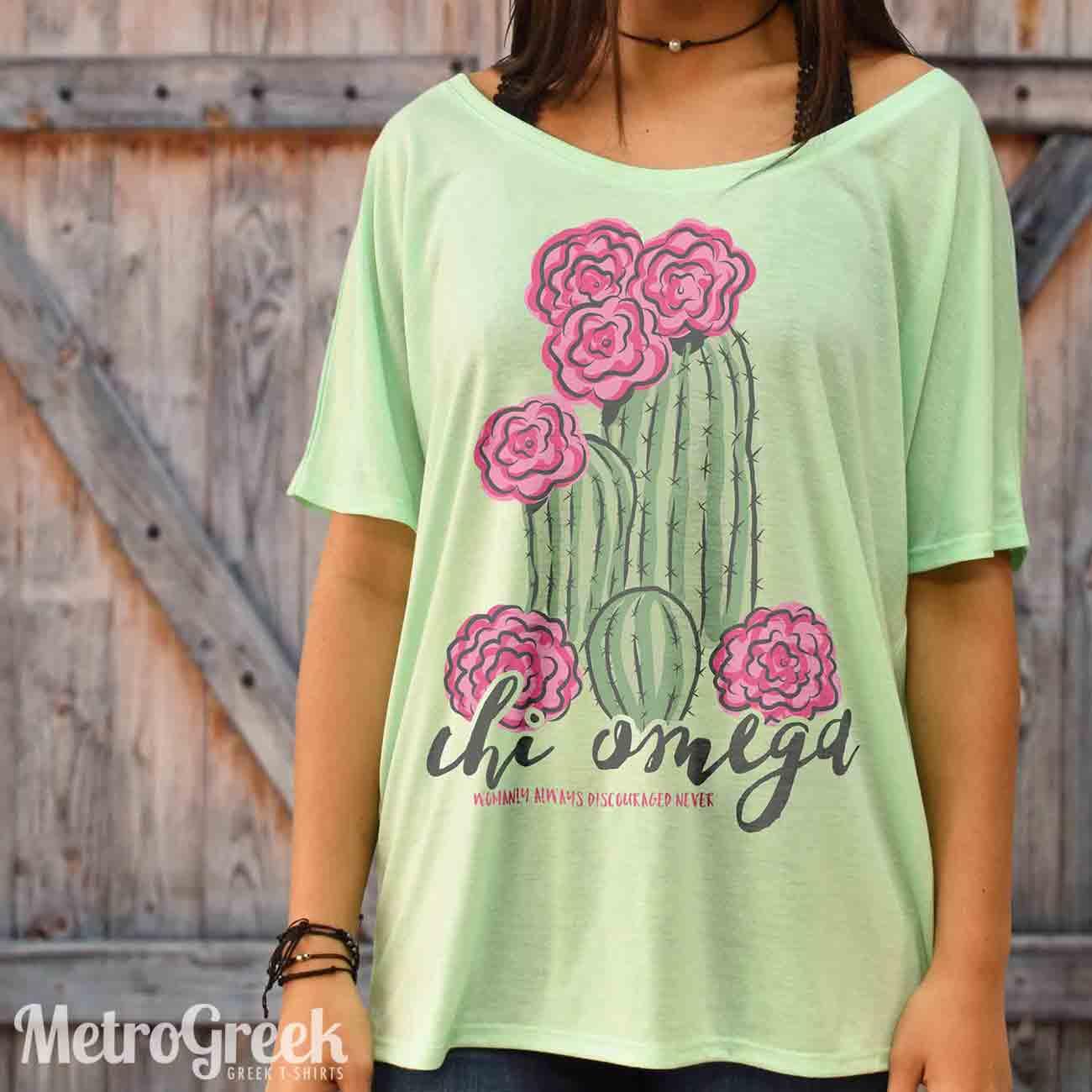 Chi Omega Cactus Shirt