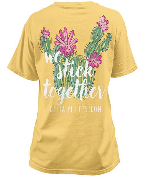 1359 delta phi epsilon cactus t shirt greek shirts for Sorority t shirts designs
