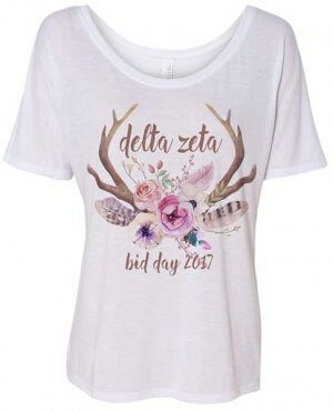 Delta Zeta Bid Day T-shirt